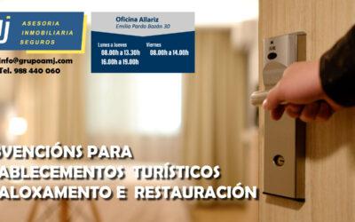 Subvenciones para establecimientos turísticos de alojamiento y de restauración